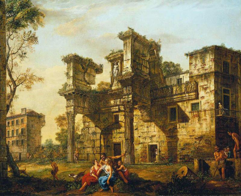 Bernardo bellotto - part du forum de nerva - rome