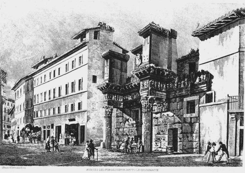 Luigi rossini - foro di nerva - 1850